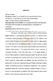 ABSTRACT Title of Dissertation - DRUM - University of Maryland